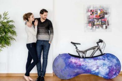 Smart cykelskydd för slippa grus i hemmet och skydda golvet